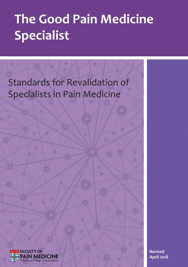 Cover image of the guidance The Good Pain Medicine Specialist