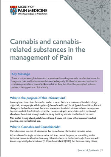 image of cannabis patient information leaflet